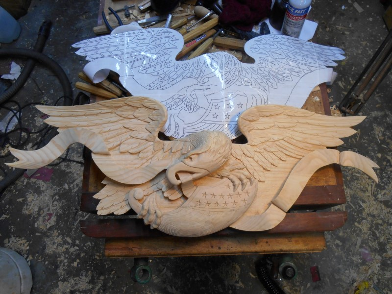 Eagles and Other Carvings - John Shortell Wood Carving