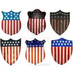 Patriotic Centenial Shields