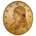 Lady Liberty Portrait Plaque