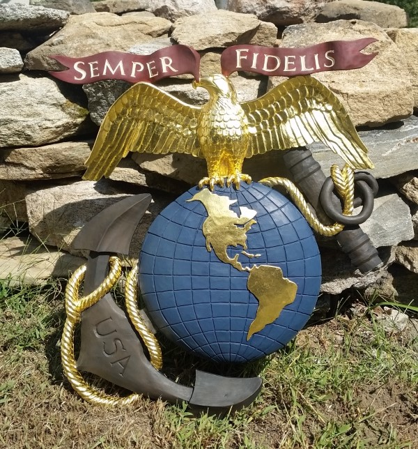 Marine Corp Anchor Globe Emblem