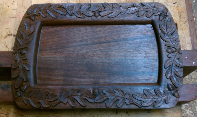 Something Different A Carved Serving Tray John Shortell