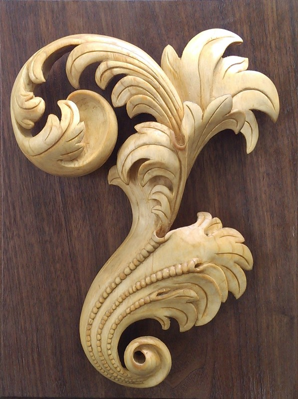 Some decorative carving john shortell wood